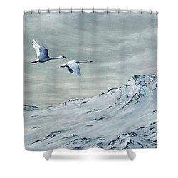 Journey Shower Curtain by Rick Bainbridge