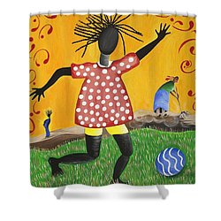 Joy's Promise Shower Curtain by Patricia Sabree