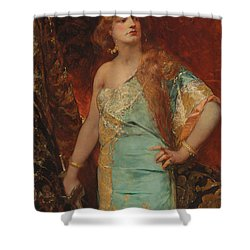 Judith Shower Curtain by Jean Joseph Benjamin Constant