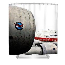Jumbo Jet Shower Curtain by Benjamin Yeager