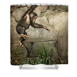 Jump For Joy Shower Curtain by Jamie Pham