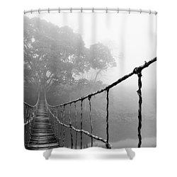 Jungle Journey 5 Shower Curtain by Skip Nall