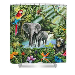 Jungle Shower Curtain by Mark Gregory
