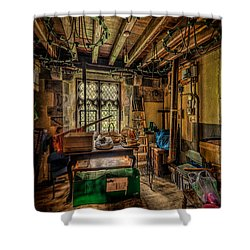 Junk Room Shower Curtain by Adrian Evans