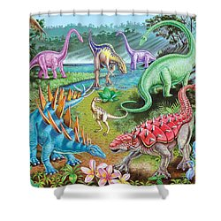Jurassic Swamp Variant 1 Shower Curtain by Mark Gregory