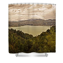 Just Before The Storm - Ardales Shower Curtain by Mary Machare