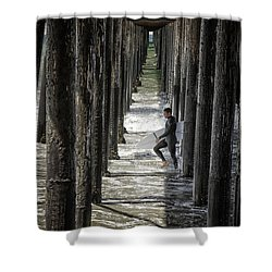 Just Passing Through Shower Curtain by Joan Carroll