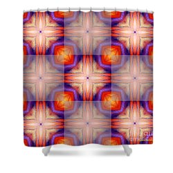 Kaleidoscope Combo 5 Shower Curtain by Louise Lamirande