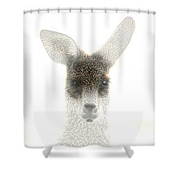 Kangaroo Shower Curtain by Holly Kempe