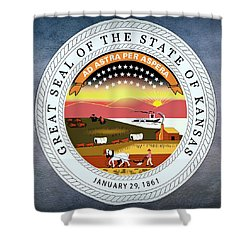 Kansas State Seal Shower Curtain by Movie Poster Prints