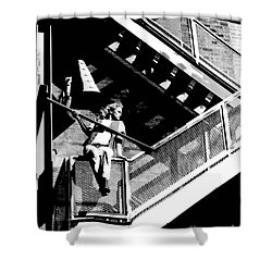 Katie-fire Escape Shower Curtain by Gary Gingrich Galleries