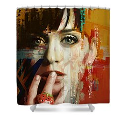 Katy Perry Shower Curtain by Corporate Art Task Force