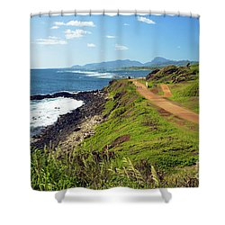 Kauai Coast Shower Curtain by Kicka Witte