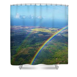 Kauai Double Rainbow Shower Curtain by Kicka Witte