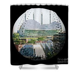 Kauffman Center For The Performing Arts Square Baseball Shower Curtain by Andee Design