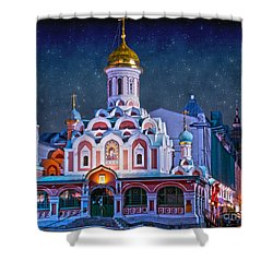 Kazan Cathedral. Red Square. Moscow Russia Shower Curtain by Juli Scalzi
