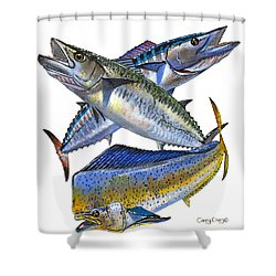 KDW Shower Curtain by Carey Chen