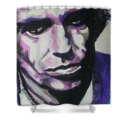 Keith Richards Shower Curtain by Chrisann Ellis