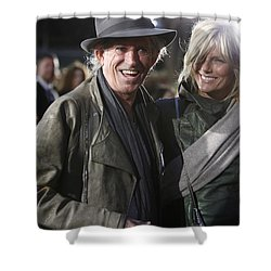 Keith Richards Shower Curtain by Nina Prommer