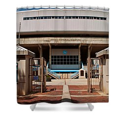 Kenan Memorial Stadium - Gate 6 Shower Curtain by Paulette B Wright