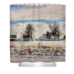 Kentucky Snow Day Shower Curtain by Darren Fisher