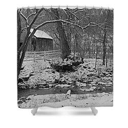 Kentucky Snow Shower Curtain by Mary Carol Story