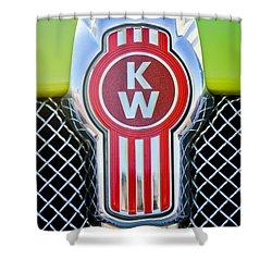 Kenworth Truck Emblem -1196c Shower Curtain by Jill Reger