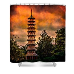 Kew Gardens Pagoda Shower Curtain by Chris Lord