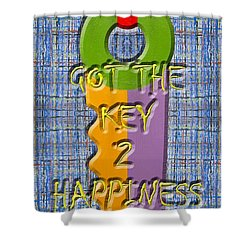 Key To Happiness Shower Curtain by Patrick J Murphy