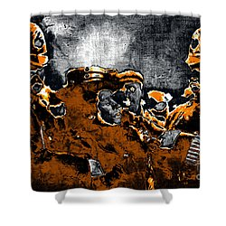 Keystone Cops - 20130208 Shower Curtain by Wingsdomain Art and Photography