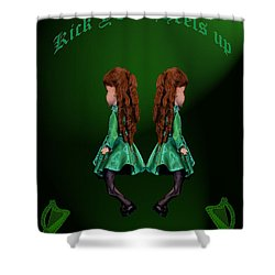 Kick Your Heels Up Shower Curtain by LeeAnn McLaneGoetz McLaneGoetzStudioLLCcom