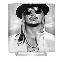 Kid Rock Shower Curtain by Brian Curran