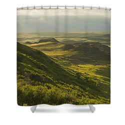 Killdeer Badlands In The East Block Of Shower Curtain by Dave Reede