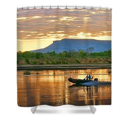Kimberley Dawning Shower Curtain by Holly Kempe