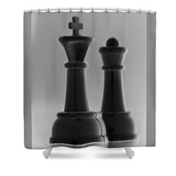 King And Queen In Black And White Shower Curtain by Rob Hans