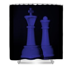 King And Queen In Purple Shower Curtain by Rob Hans
