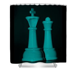 King And Queen In Turquois Shower Curtain by Rob Hans
