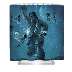 King Wookiee Shower Curtain by Eric Fan