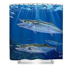 Kingfish Reef Shower Curtain by Carey Chen