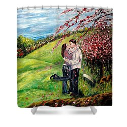 Kiss Shower Curtain by Harsh Malik