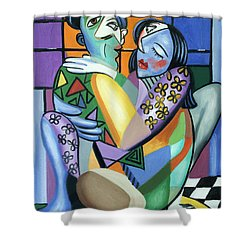 Kiss Me Shower Curtain by Anthony Falbo