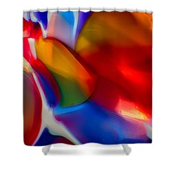 Kissy Face Shower Curtain by Omaste Witkowski