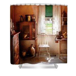 Kitchen - A Cottage Kitchen  Shower Curtain by Mike Savad