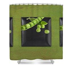 Kitchen Art - Peas - 02t01b Shower Curtain by Aimelle