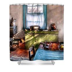 Kitchen - Old Fashioned Kitchen Shower Curtain by Mike Savad