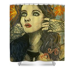Kitty Perry Shower Curtain by Alana Meyers