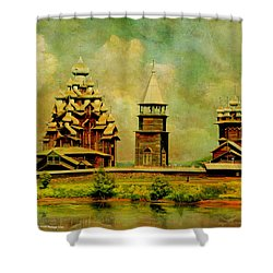Kizhi Pogost Shower Curtain by Catf