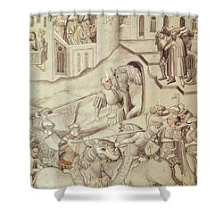 Knights Jousting Shower Curtain by Bohemian School
