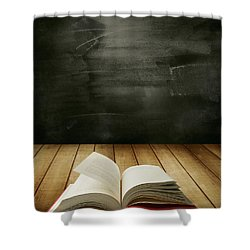 Knowledge Shower Curtain by Les Cunliffe