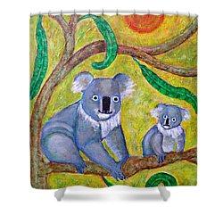 Koala Sunrise Shower Curtain by Sarah Loft